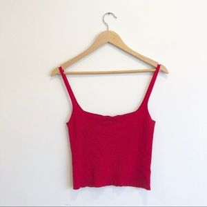 H&M Red knit tank